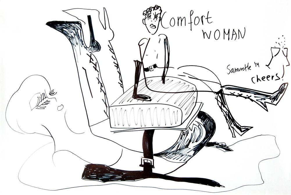 Therese-23-Zoekende-drawing-23-Comfort-woman-samurette-sept-14