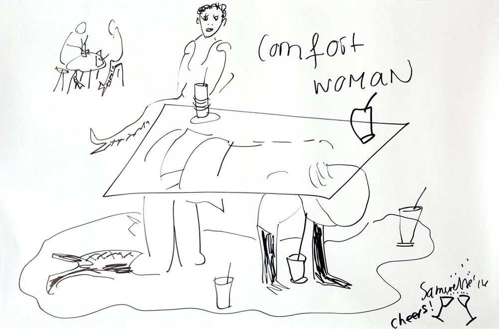 Therese-24-Zoekende-drawing-24-Comfort-Woman II-sept-14
