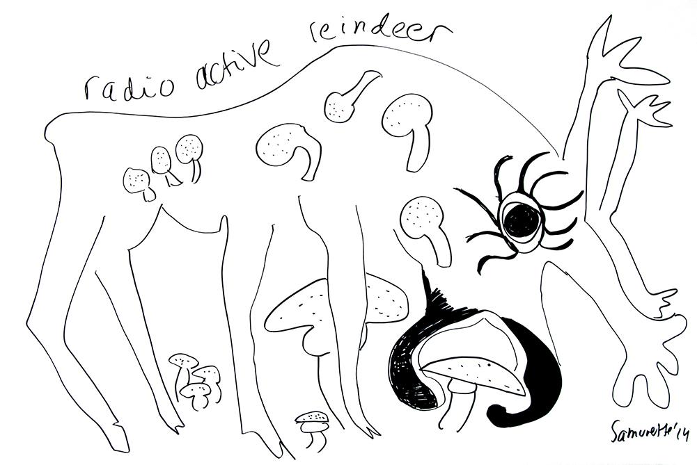 Therese-28-Zoekende-drawing-228-Radioactive-reindeer-13-10-14